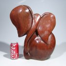 "Large ""African Elephant"" in Red Jasper Stone Art Handmade in Zimbabwe!"