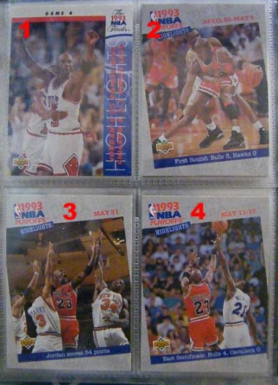 Michael Jordan 93-94 Upper Deck Playoffs Highlights 201
