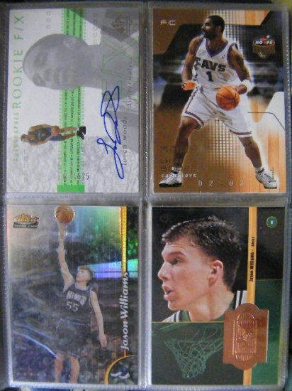 Jason Williams 98-99 Finest RC Rookie No Protector Refractor