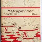 AA Grapevine Magazine  October 1980 Vol 37 No 3