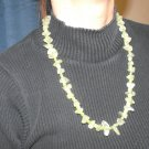 N38 Prehnite and Green Cats Eye Necklace  50% OFF