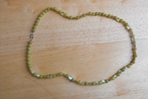 N19 Peridot and Green Cats Eye Necklace 50% OFF