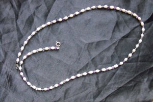N10 Pearl and Purple Flourite Necklace  50% OFF