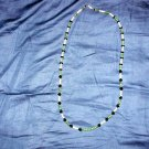 N2 Green Jade,Pearls and Vintage Jet Glass Necklace  50% OFF