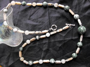 N69 Jasper and Agate Necklace  50% OFF
