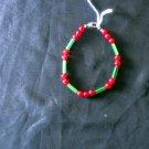 B23 Ruby and Green Cat's Eye Bracelet