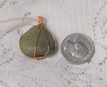 P26 Green River Stone in Copper Pendant