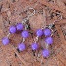 E56 Lavender Chandelier Earrings