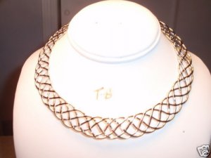 BRAIDED TWIST SILVER CHOKER NECKLACE JEWLERY NEW 2011 This STAMPED SILVER TWIST CHOKER