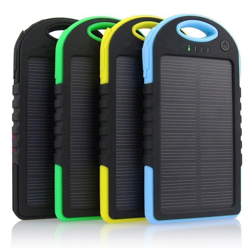 5000mAh Portable Waterproof Solar USB Charger External Battery