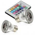 2-Pack Magic Lighting LED Light Bulb with 16 Different Colors and Remote