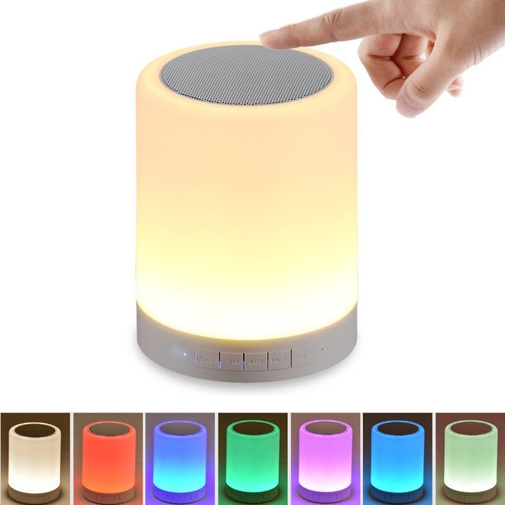 Night Light with Bluetooth Speaker SHAVA Portable Wireless