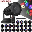 20 Patterns Christmas LED Light Projector Moving Laser Projection Outdoor Indoor