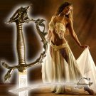 Belly Dance Dragon Scimitar Gold Sword free wooden stand