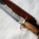 Damascus Throwing Bowie Knife