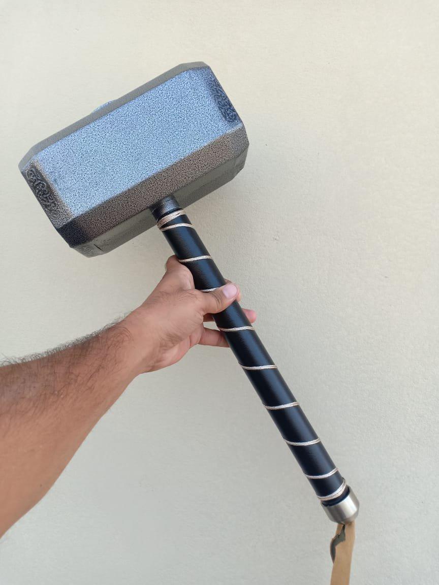 Marvel's Avengers Thor Hammer Replica Prop Mjolnir Resin Base Cosplay (Full Matel)