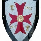 MEDIEVAL ROYAL KNIGHT CRUSADER SHIELD / W RED CROSS