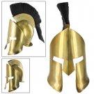 Greek Spartan Crested Brass Helmet