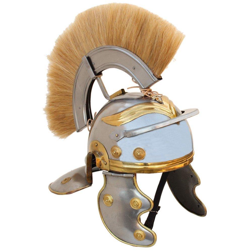 Imperial Roman Centurion Helmet with Blonde Plume