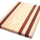 Maple and Padauk Edge Grain Wood Cutting Board