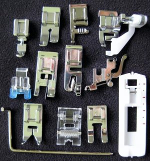 New Set / 13 SNAP-ON FEET for New Style Bernina Sewing