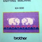 BROTHER KH-930 ++  KR-850 KNITTING MACHINE MANUALS CD +