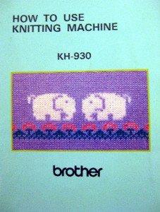 BROTHER KH-930 ++  KR-850 KNITTING MACHINE MANUALS CD +