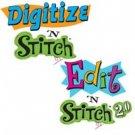 Amazing Designs DIGITIZE & EDIT'N STITCH Software NIB