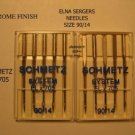 NEW 15 ELNA SCHMETZ NEEDLES ELx705 90/14 CHROME FINISH