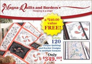 BERNINA MAGNA HOOP QUILTS & BORDERS KIT NIB for Artista 830