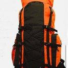ORANGE Extra Large Backpack Camping 4300 CI Hiking Pack Hunting Internal Frame