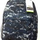 Backpack  School Pack Bag Digital Camo Hiking Camp Camping Navy ACU  New