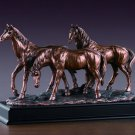 Three Horses Bronze Sculpture 3 Horses  Wild Horse FREE SHIPPING New 53165
