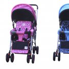 DOUBLE Stroller BLUE Baby Strollers BEBELOVE 2 Seats Multiple Multi Twin  Child