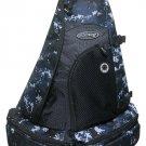 Messenger Sling Body Bag  BLACK DIGITAL CAMO Camoflauge NEW Backpack Free Ship