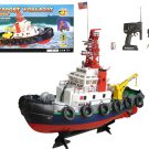 "20"" Seaport Work Tug Boat RC Remote Control Spurts Water Tugboat Harbor Boat New"