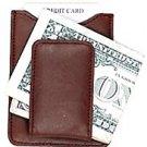 Magnetic Money Clip Credit Card Holder Leather Wallet Billfold Slim Black Brown
