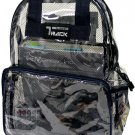 CLEAR Backpack Black See Through Security Jelly Plastic Sports School PVC Travel