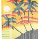 Natural Bamboo Beaded Curtain  PALM SUNSET  Beads Window Doors Room Divider New