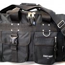 BLACK DUFFELBAG  DUFFEL Gym BAG Bags New 25 Inch Carry On Sports Workout Travel