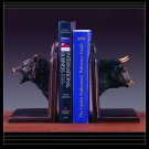 Bear & Bull Bookends  Bronze Sculpture Statue Office Library Decorative Resin