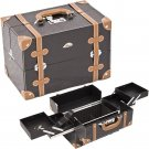Makeup Case Black Beauty Train Organizer Professional  2-Tiers Free Shipping New