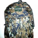 Backpack  School Pack Bag Digital Camo Hiking Camp Camping Green ACU  New
