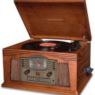 Crosley CR42 Lancaster Turntable Record Player CD MP3 Paprika Free Shipping New