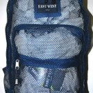 Mesh Backpack NAVY Pack See Through School Bag Clear Sports Gym Free Shipping