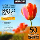 "Kirkland Signature Photo Paper 13"" X 19"" Professional Glossy 50 Sheets Printer"