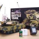 """16"""" 1:24 German Leopard RC Tank M1LP Battle War Fires BB'S Remote Control R/C"""