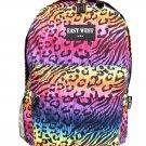 Backpack  School Pack Bag Neon Cheetah  Hiking Camp Camping Free Shipping New