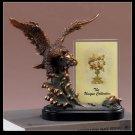 EAGLE & Picture Frame Bronze Sculpture Statue