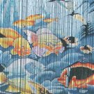 Natural Bamboo Beaded Curtain  Fishes II Beads Window Doors Room Divider Surf